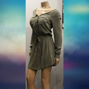 💜 American Eagle Outfitters Camo Army Shirt Dress